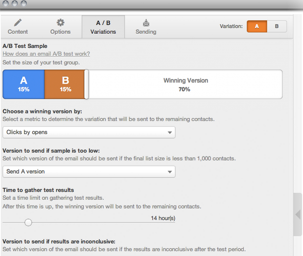 Make use of a tool, such as Hubspot, that allows you to a/b test your emails.
