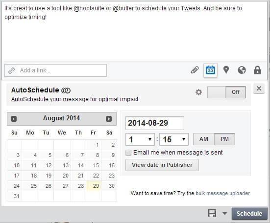 Hootsuite social scheduler