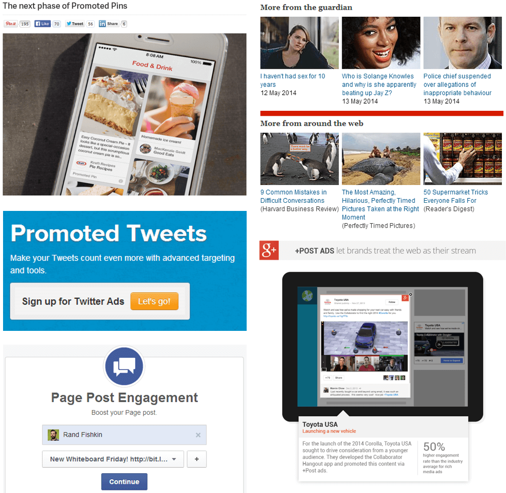 Amplifying content marketing promotion
