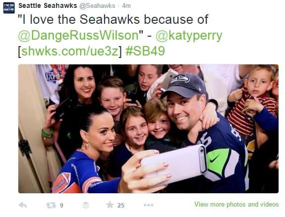 Superbowl Katy Perry Tweet