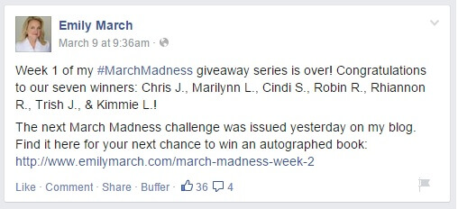 March Madness contest Facebook
