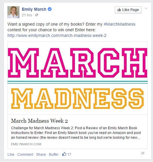 march madness giveaway on Facebook