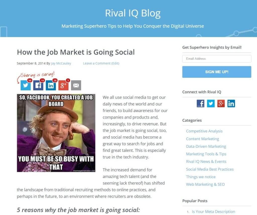 Job Market Going Social Blog