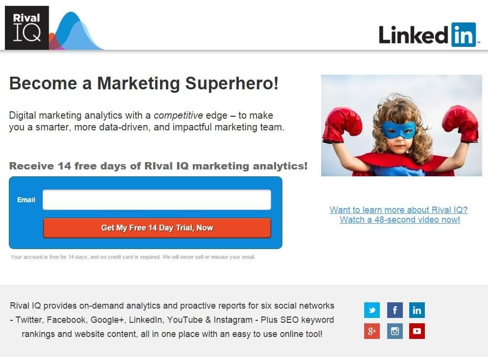 LinkedIn Superhero Landing Page