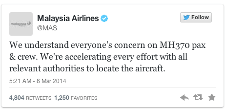 social media crisis malaysia airlines
