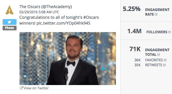 Congrats Oscars