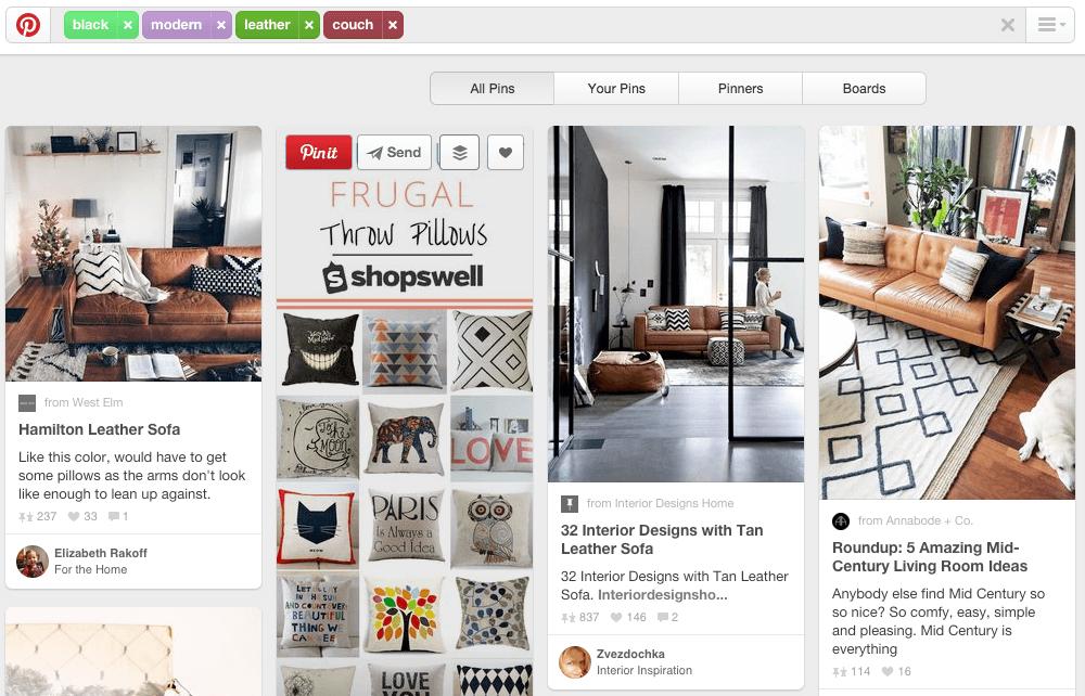 B2C Social Media Marketing Pinterest