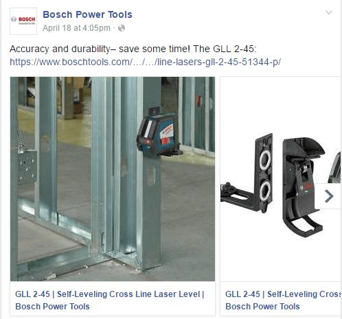 Facebook Carousel Ads Bosch