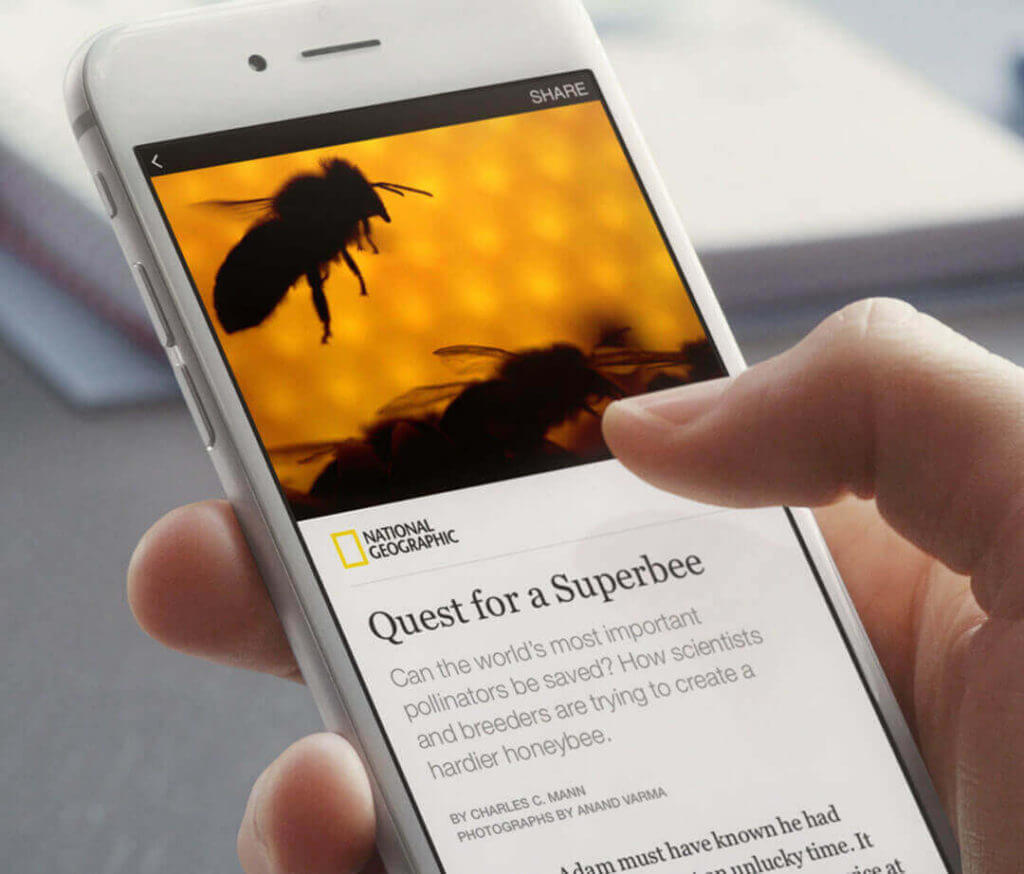 Facebook Instant Articles on mobile