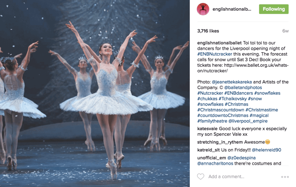 English National Ballet learned to leverage Instagram and Snapchat to attract new, younger audiences