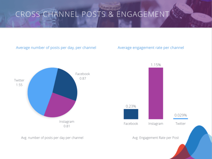 Craft Beer Engagement by channel pie graph and bar graph