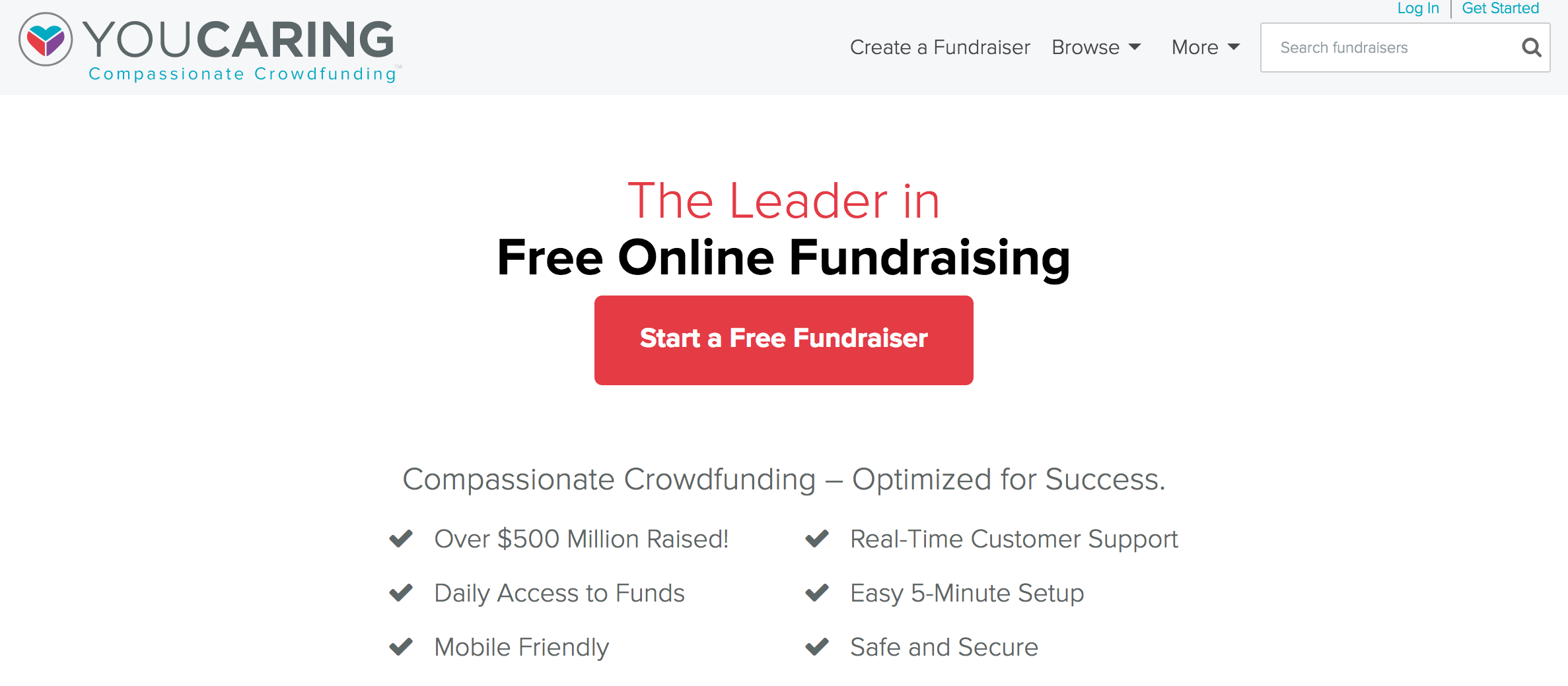 YouCaring online crowdfunding and online fundraising