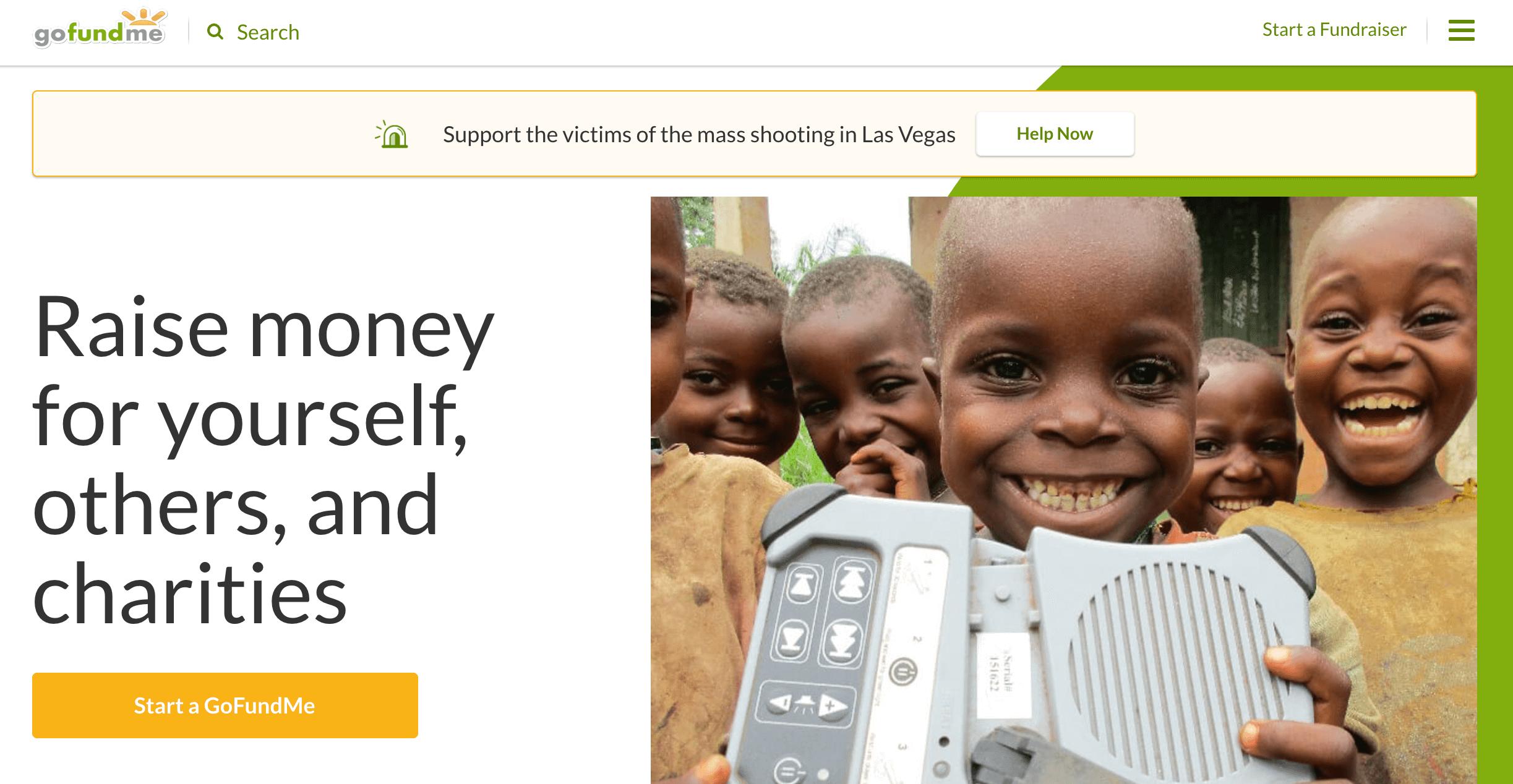 GoFundMe online fundraising
