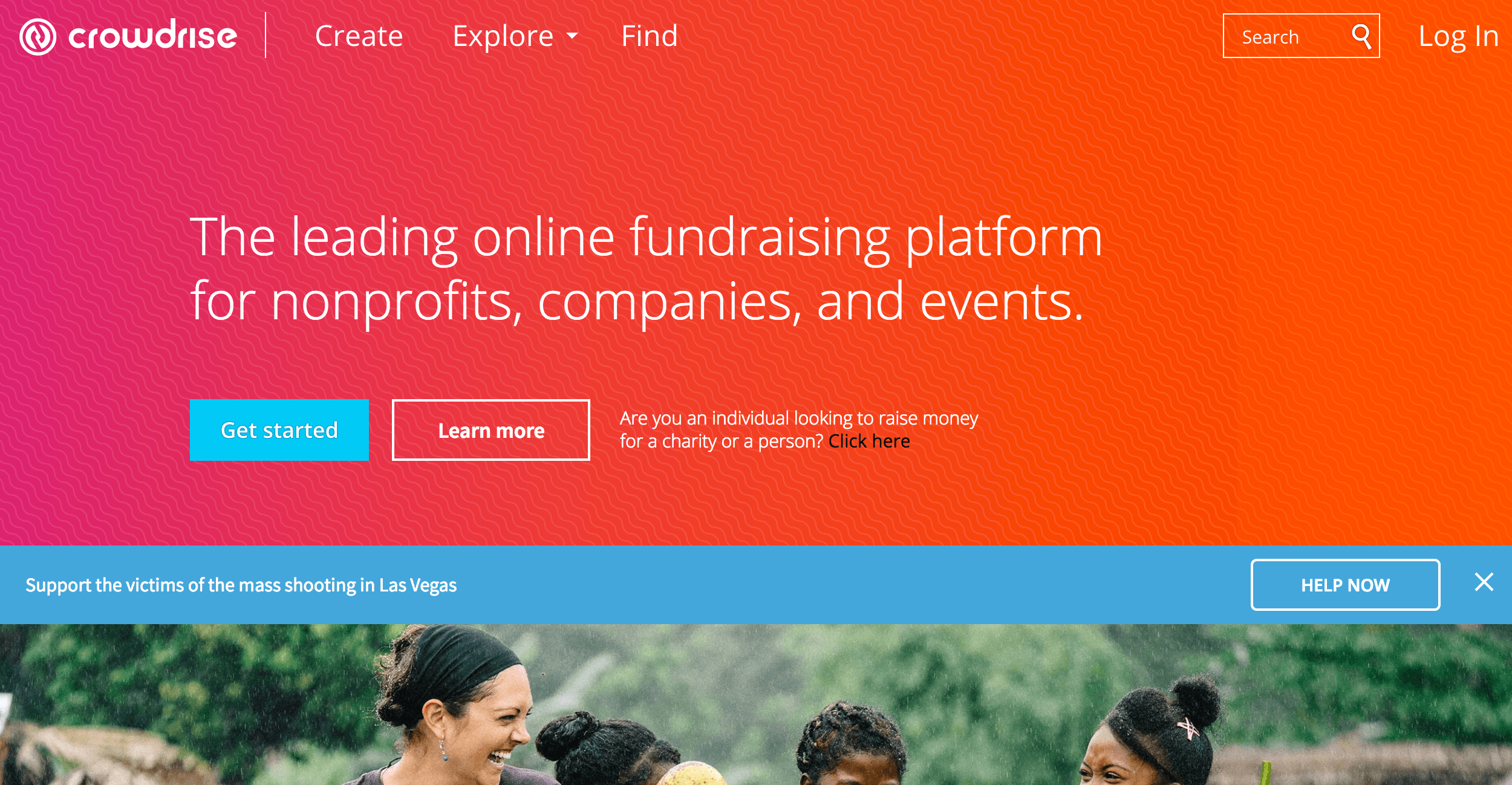 Crowdrise social fundraising for nonprofits, companies, and events