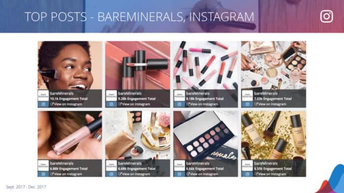 bareMinerals' top Instagram posts