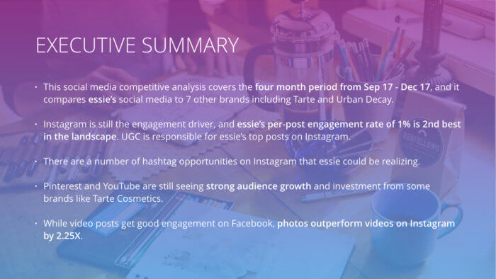 executive summary slide
