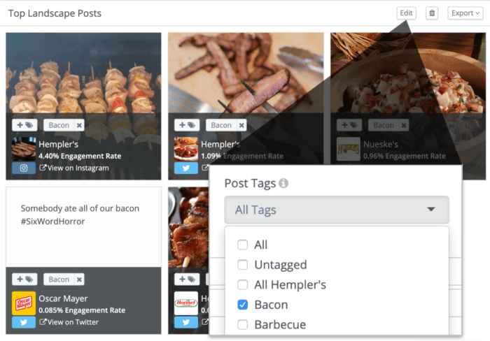 Analyze your post tags alongside your other favorite stats using custom dashboards.