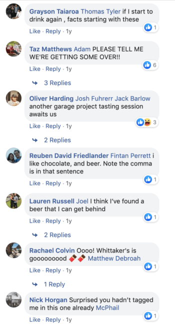 A sample of positive comments on a post featuring a Dalmore new release.