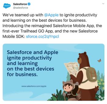 b2b brand salesforce shows off custom graphics in this tweet