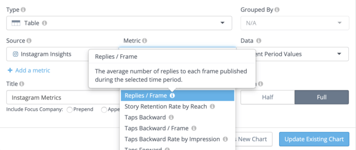 metric naming and tooltips