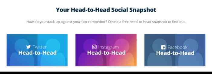 Head-to-head social media benchmark reports