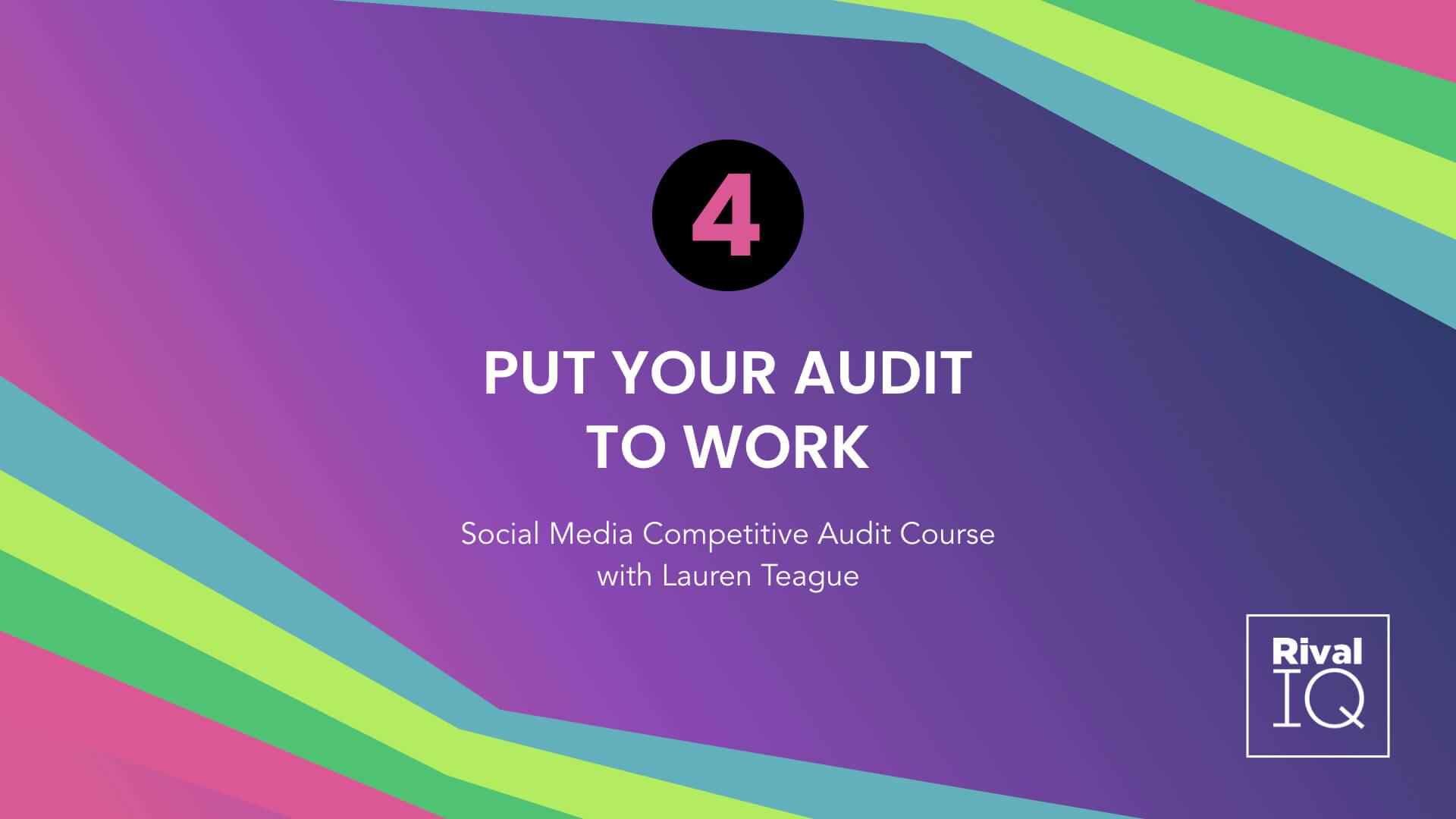 Lesson 4 Social Media Competitive Audit Course