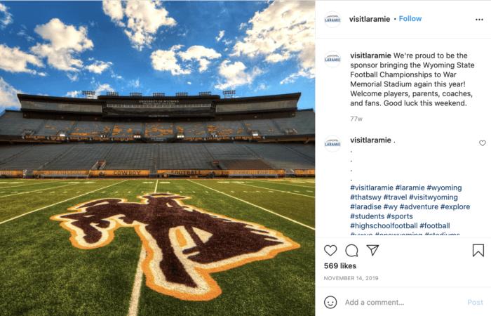 Image of center field at Memorial Stadium in Laramie